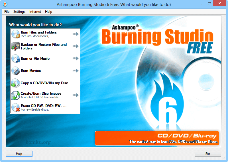 Ashampoo Burning Studio 6 FREE DVD and Blu-ray Burner Software