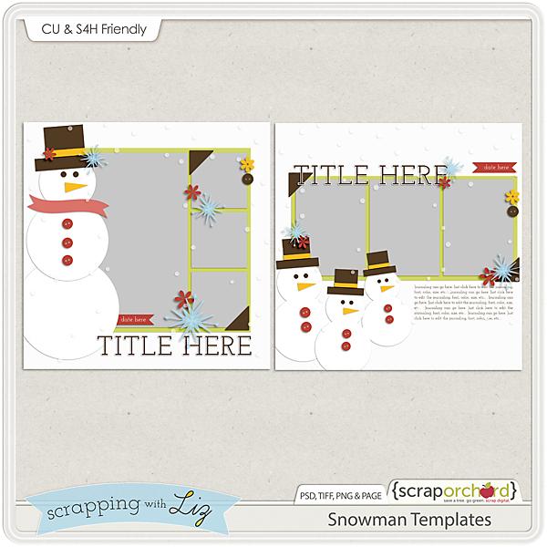 http://scraporchard.com/market/Snowman-Digital-Scrapbook-Templates.html