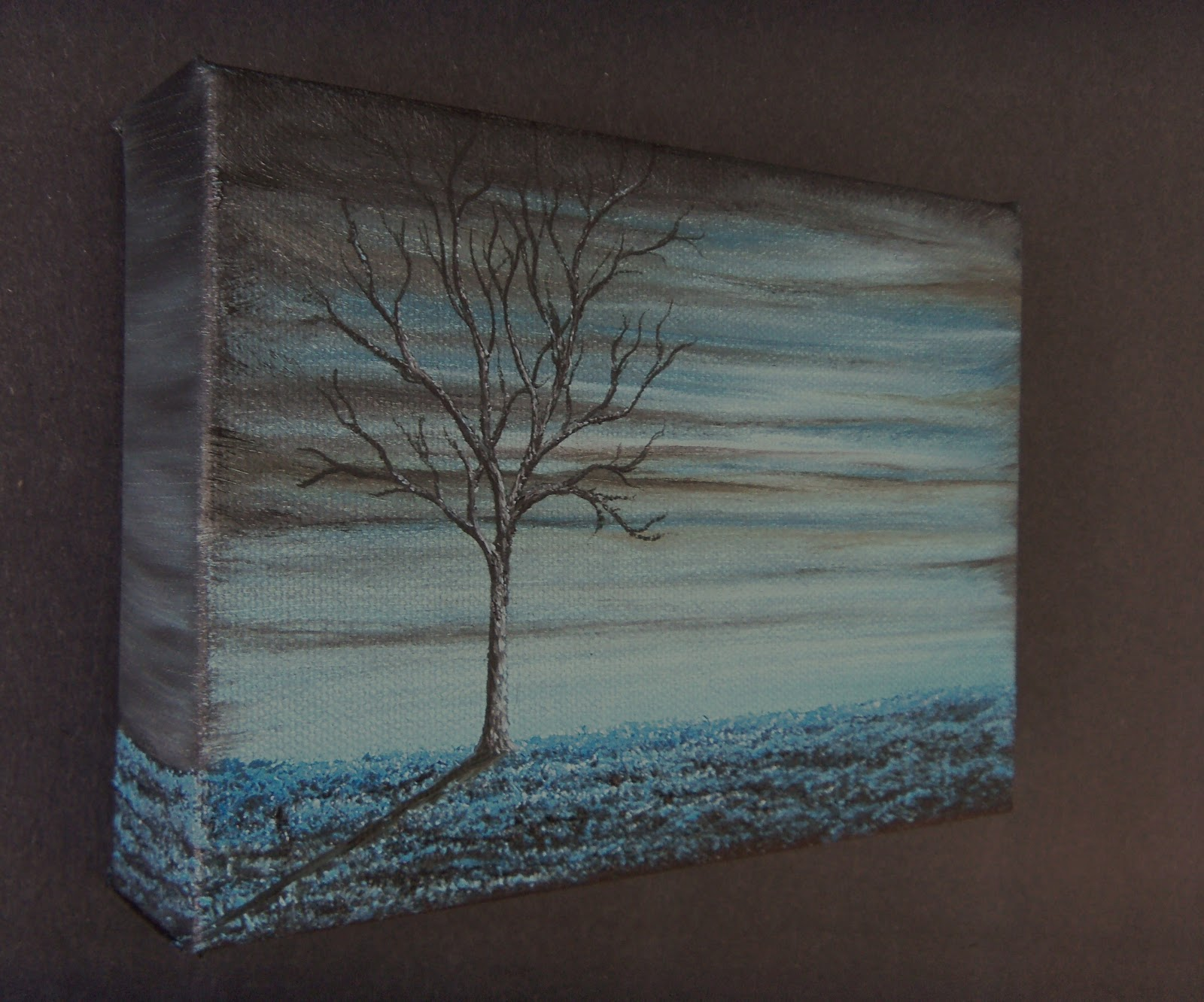 Abstract Tree Oil Painting Contemporary Art on Textured Canvas 5 x