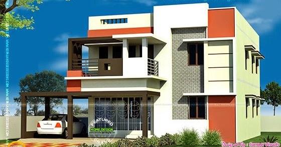3 bedroom tamilnadu flat roof house kerala home design for Bedroom designs tamilnadu