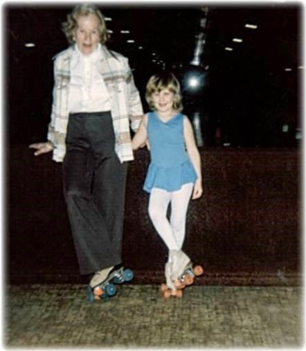 Rollerskating with Grandmother 1983-ish