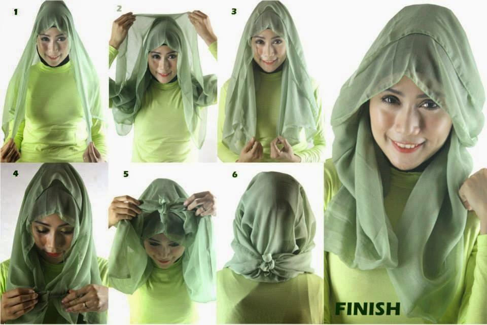 Cara-Memakai-Hijab-Segi-Empat