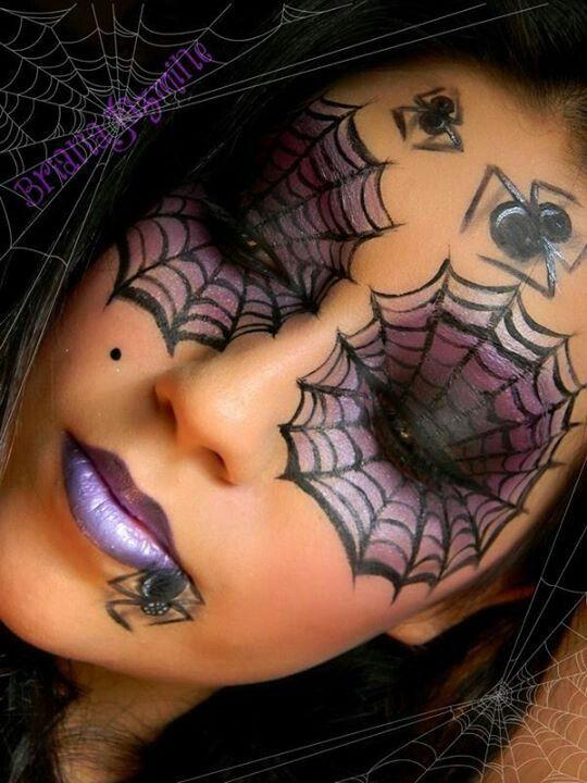 maquillaje halloween telaraña