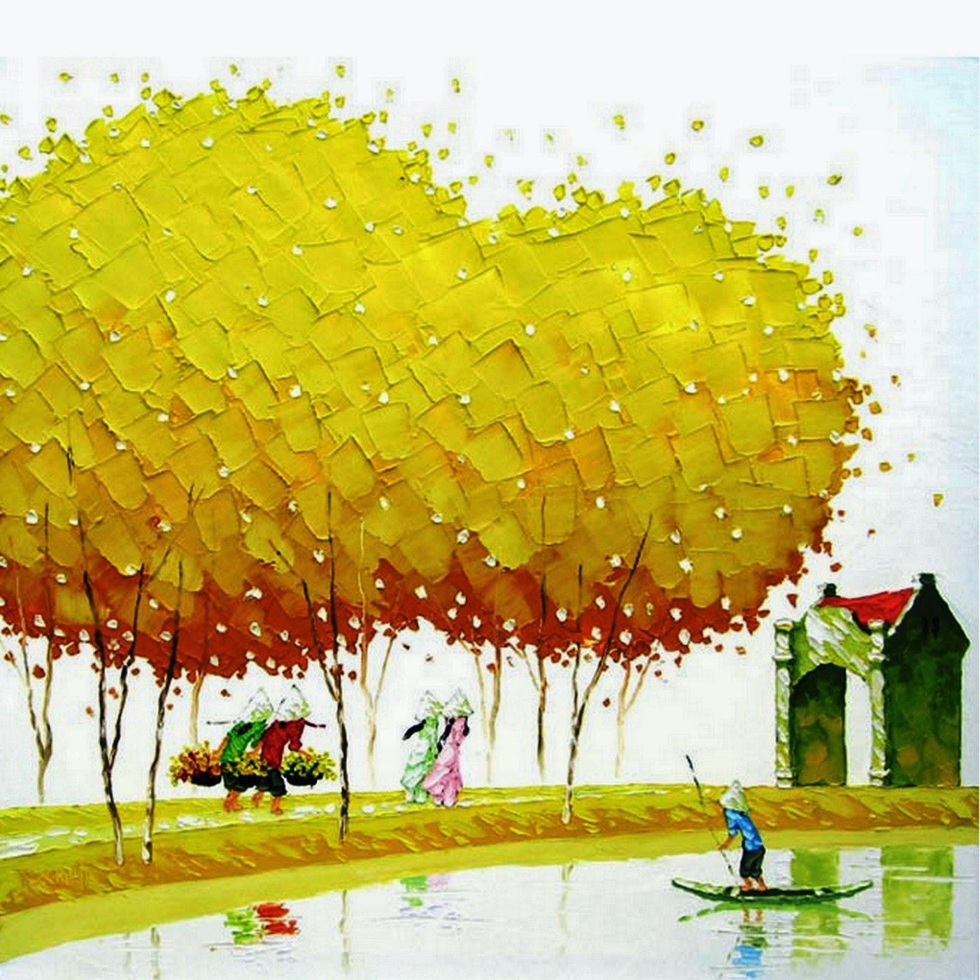 Cuadros modernos pinturas y dibujos paisajes modernos for Fotos de cuadros abstractos al oleo