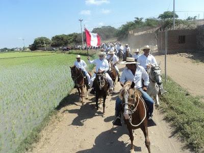 Hoy se realizó la primera cabalgata regional de caballos peruanos de paso en Lambayeque