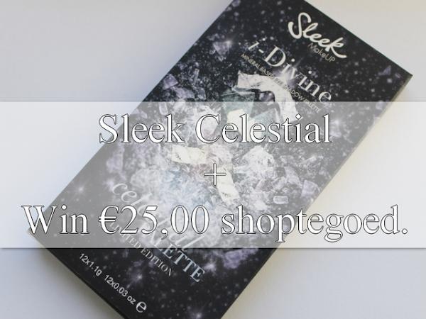 GIVEAWAY! Win €25,00 shoptegoed + Sleek Celestial Palette Review.