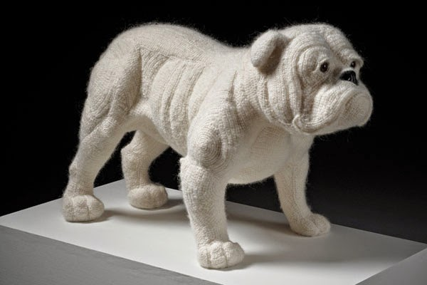 Crochetdermy by Shauna Richardson bulldog