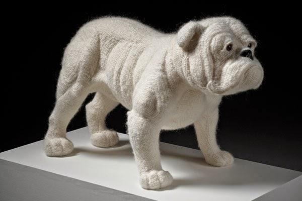 Crochetdermy by Shauna Richardson bulldog