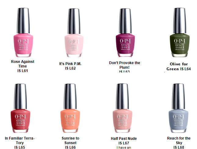 Opi Gel Nail Polish Color Chart 2016 Creative Touch