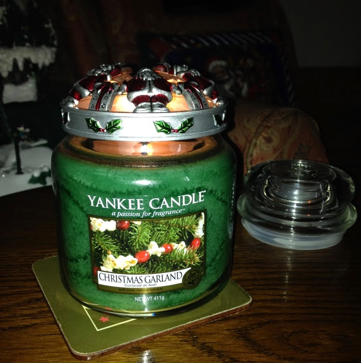 My Yankee Candle Diary Christmas Garland Pinecone Lime Season