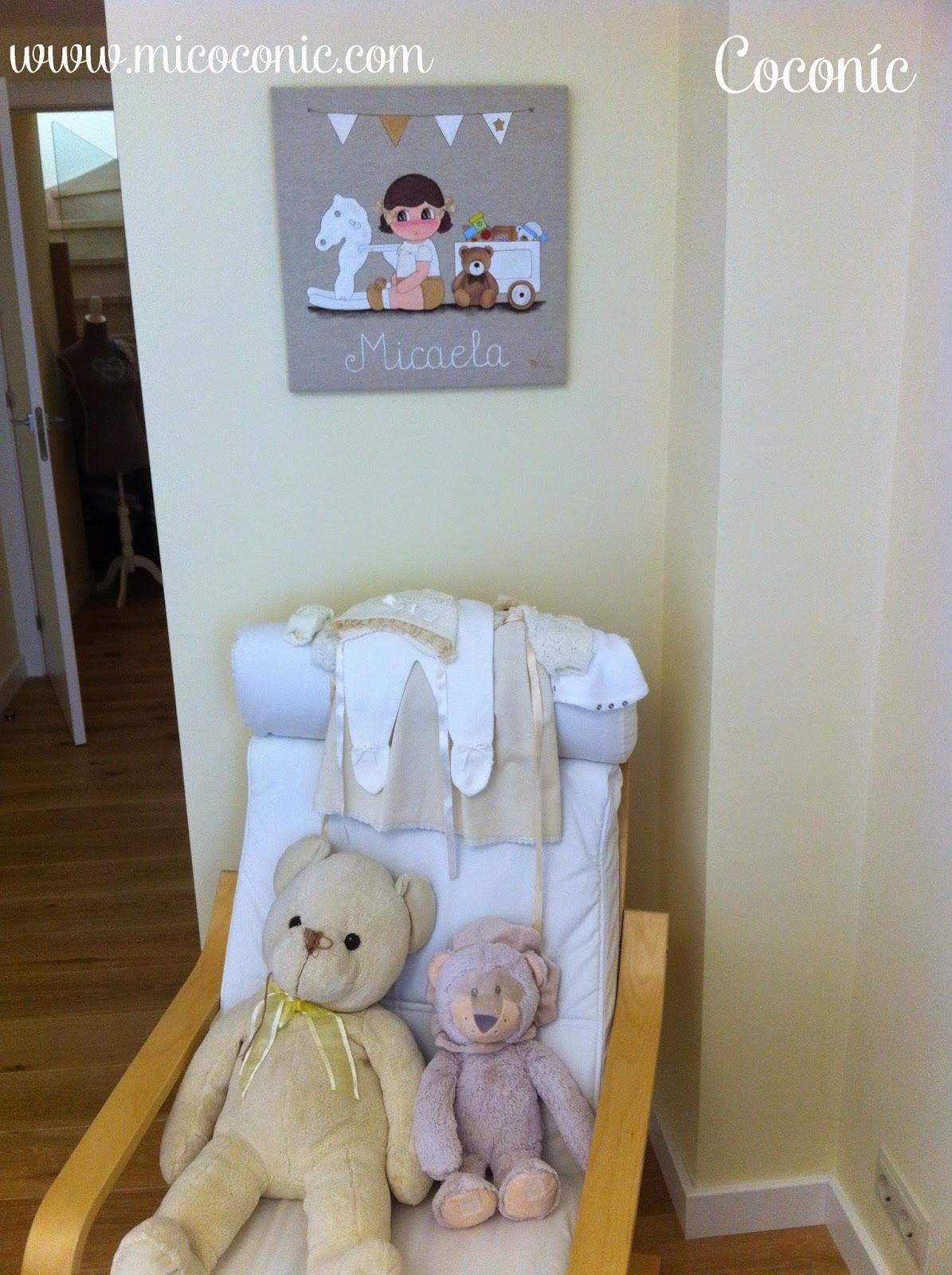 decoración infantil cuadro personalizado niña