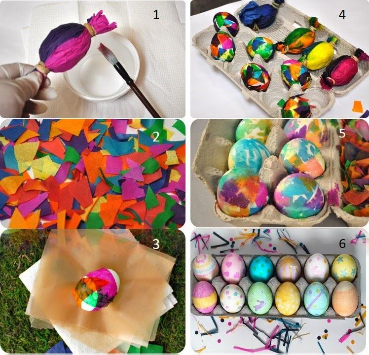 безопасные для детей крашенные пасхальные яйца