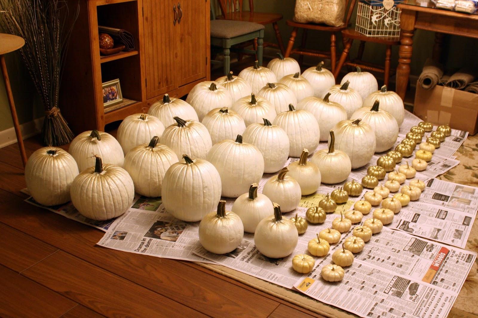 Fall wedding series 3 pumpkins burlap and mason jars for White pumpkin table decorations