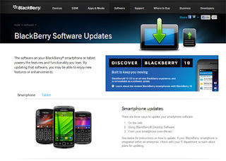 Cara Update Software BlackBerry