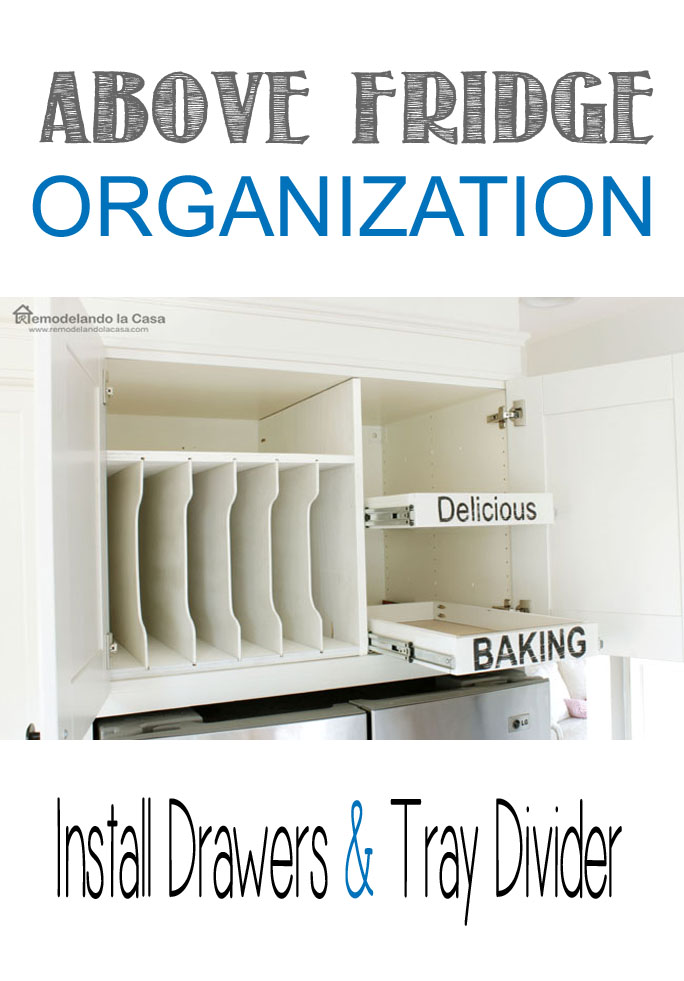 how to make drawers and install drawer slides in cabinet above fridge