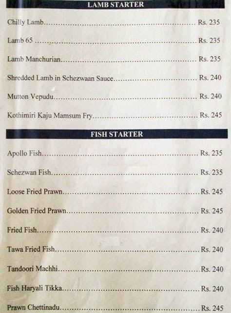 Veg Restaurants in Hyderabad Hotel Sadhvika Menu 8