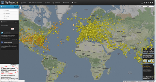 Flightradar24: Live air traffic