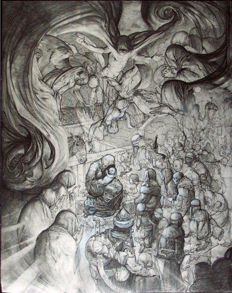 Simon Bisley Painting For Sale