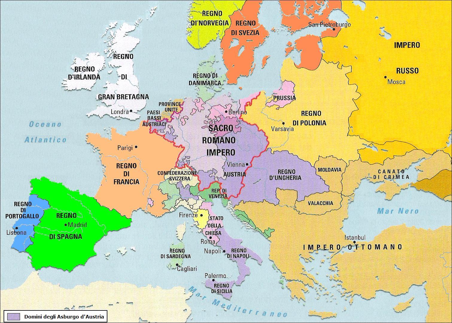 Imparare con la storia 58 l 39 europa nell 39 et dei lumi - Mappa di ungheria ed europa ...