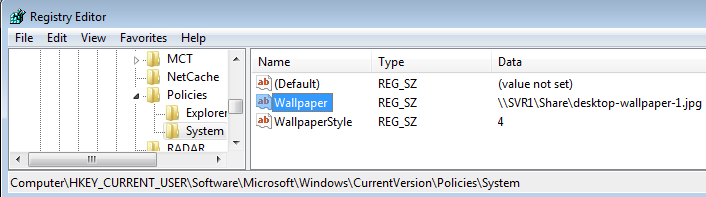 Configure Desktop Wallpaper Background using Group Policy