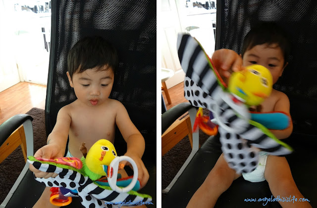 Lamaze toys, baby travelling toy, baby development toy