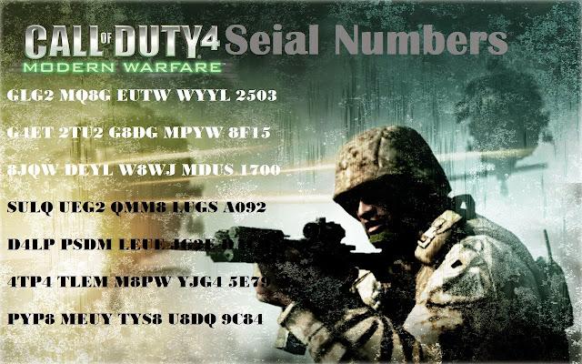 key code cod 4