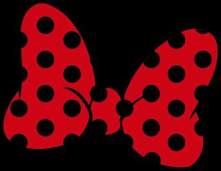 lazo de color rojo y negro para imprimir lazo minnie mouse para imprimir