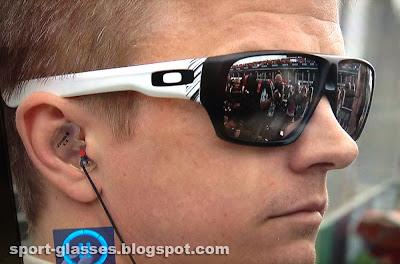 Kimi Räikkönen wearing Oakley Dispatch Sunglasses at the Australian GP 2013