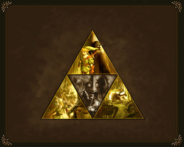 the legend of zelda twilight princess tri force link