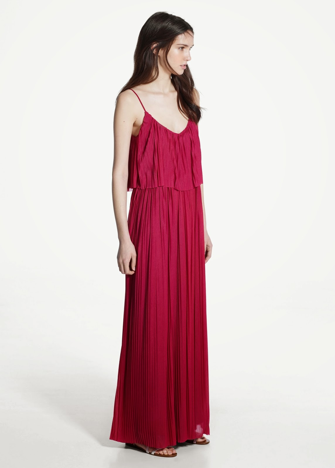 mango red maxi dress