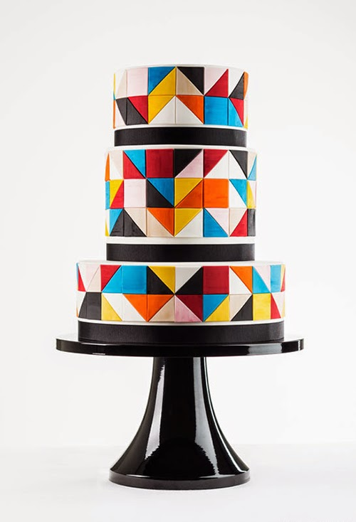 Geometric wedding cakes