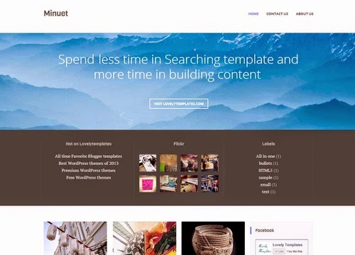 Free Download Minuet Blogger Template