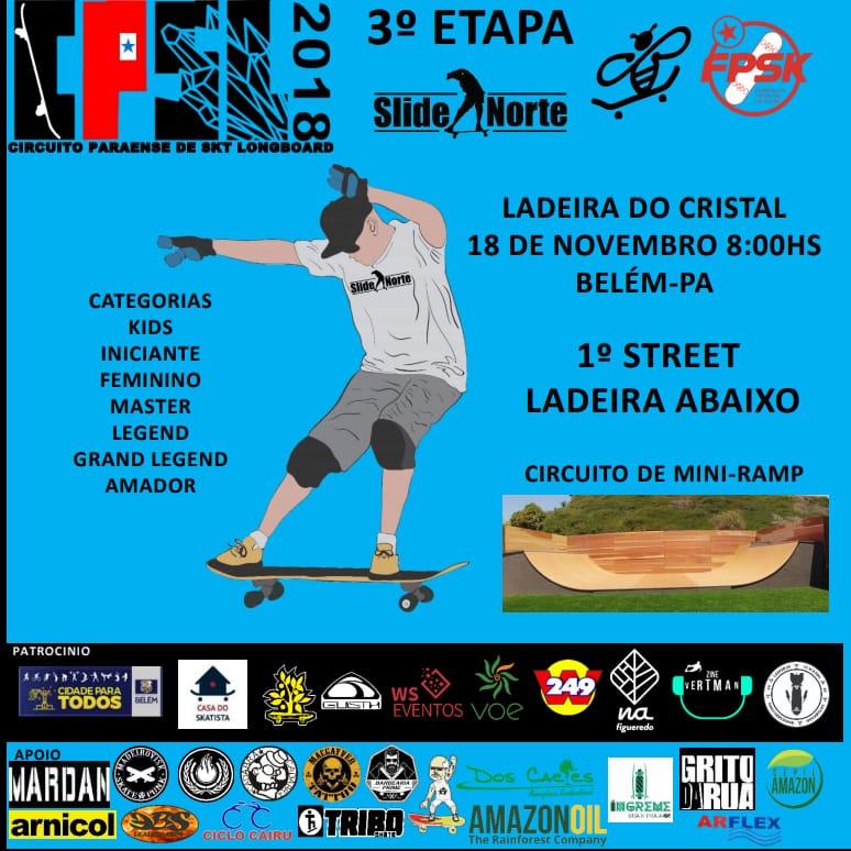 Circuito PA de Skate Longboard 2018