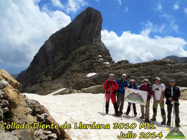 COLLADO DIENTE DE LLARDANA 3010 MTS.