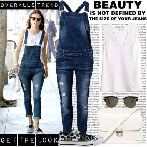 Get the look: Alessandra Ambrosio in denim overalls. Visit www.forarealwoman.com