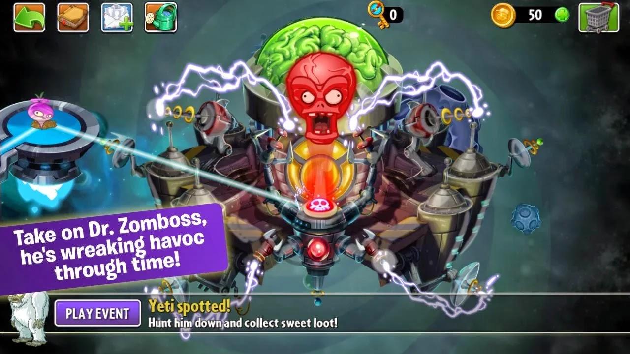 Plants vs. Zombies™ 2 v2.7.1 Mod [Unlimited Coins/Gems/Keys]