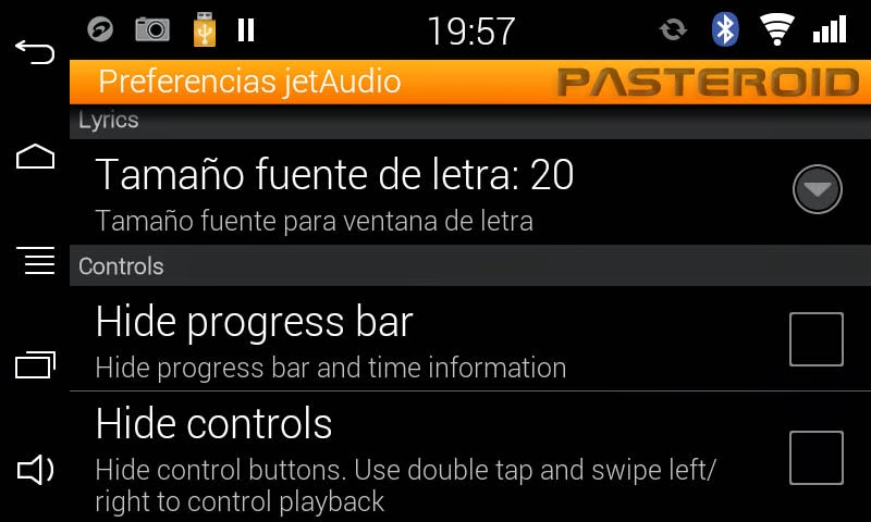 JetAUDIO MUSIC PLAYER ANDROID PARROT ASTEROID