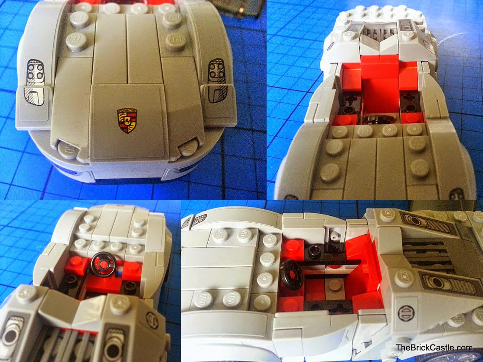 LEGO Porsche 918 Spyder 75910 Hybrid Supercar details