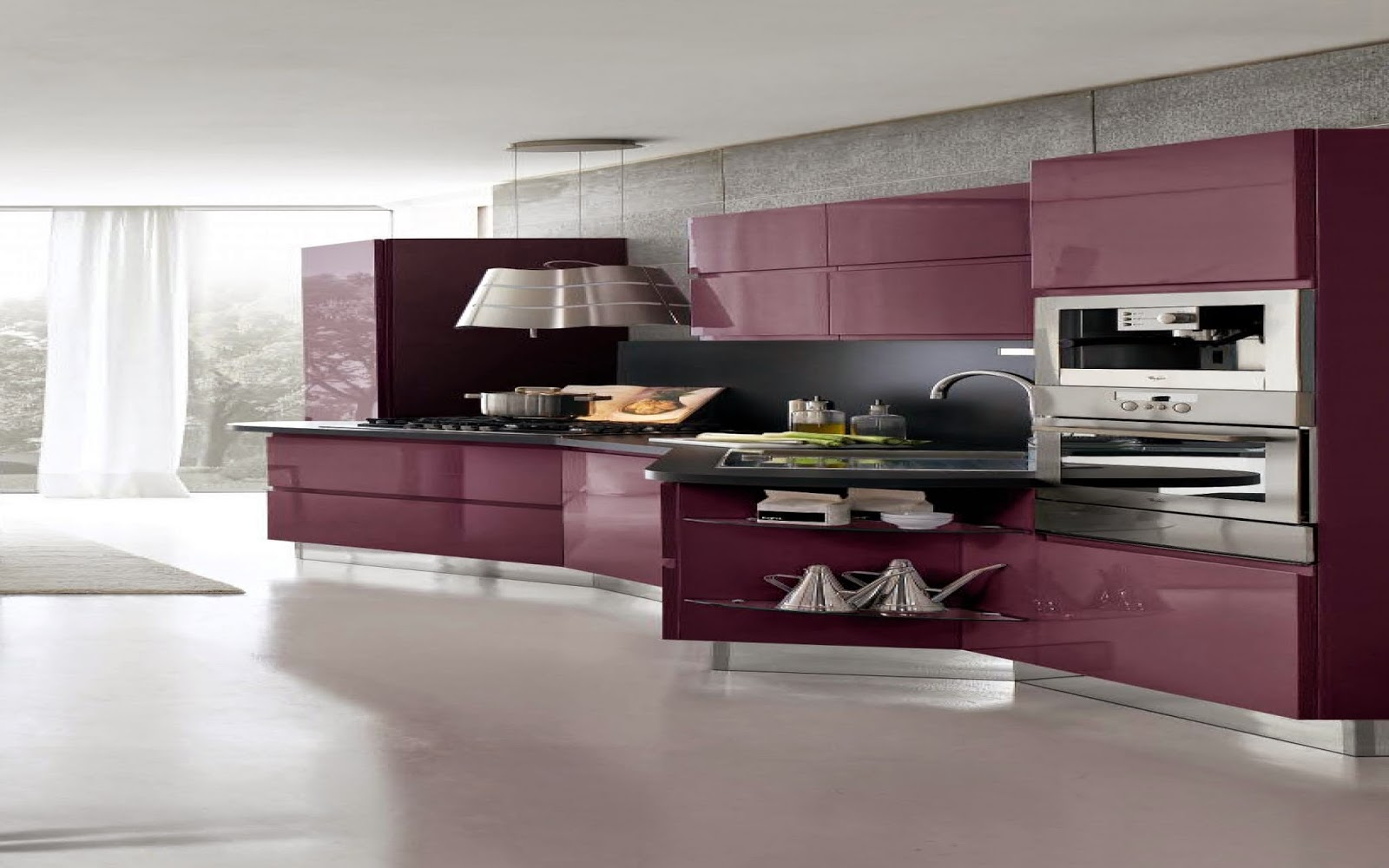 photo de cuisine moderne. Black Bedroom Furniture Sets. Home Design Ideas