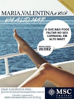 """Concurso Cultural """"Maria Valentina em alto mar"""""""
