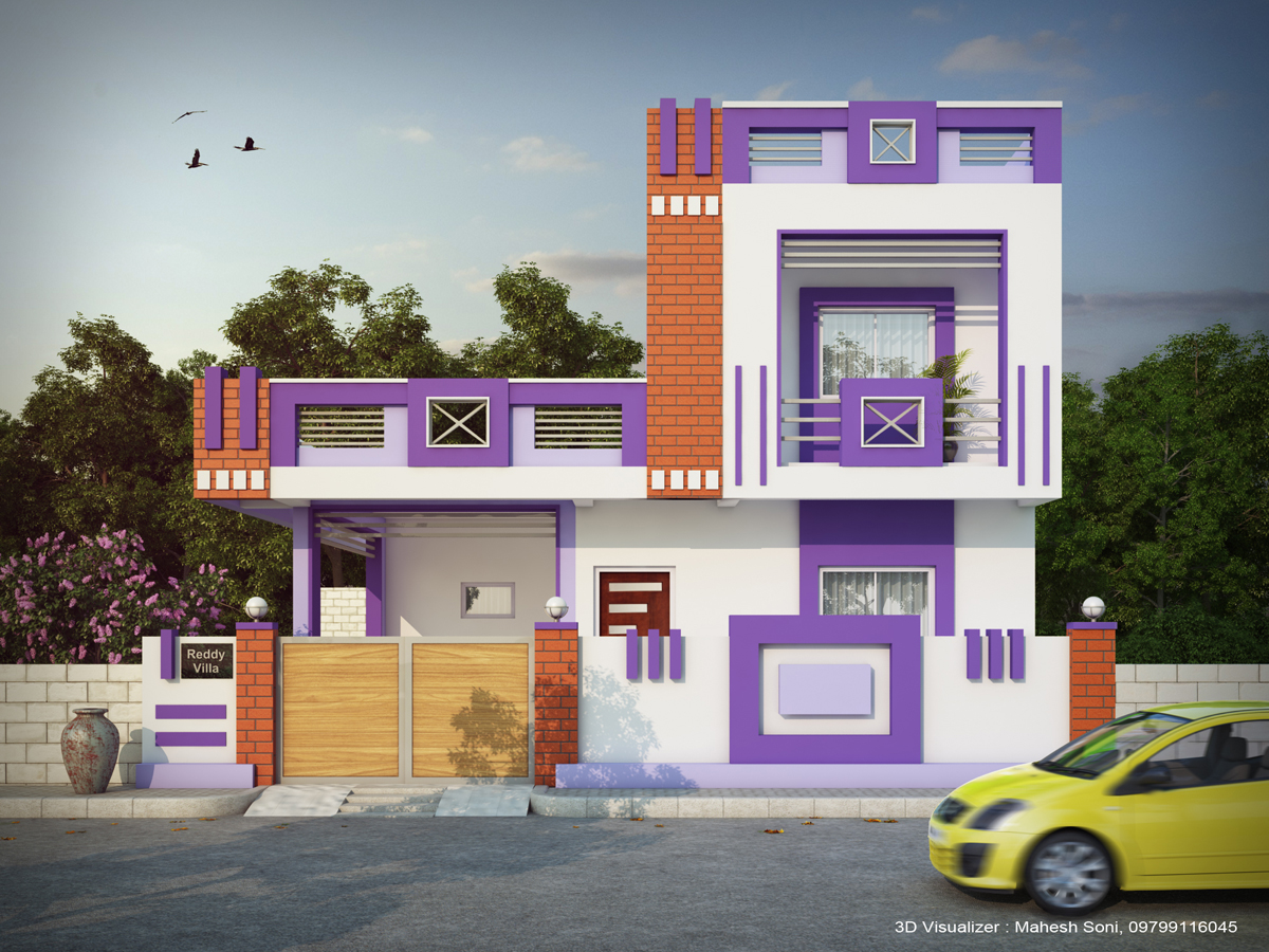 Front Elevation Colour Design : House elevation colour combination