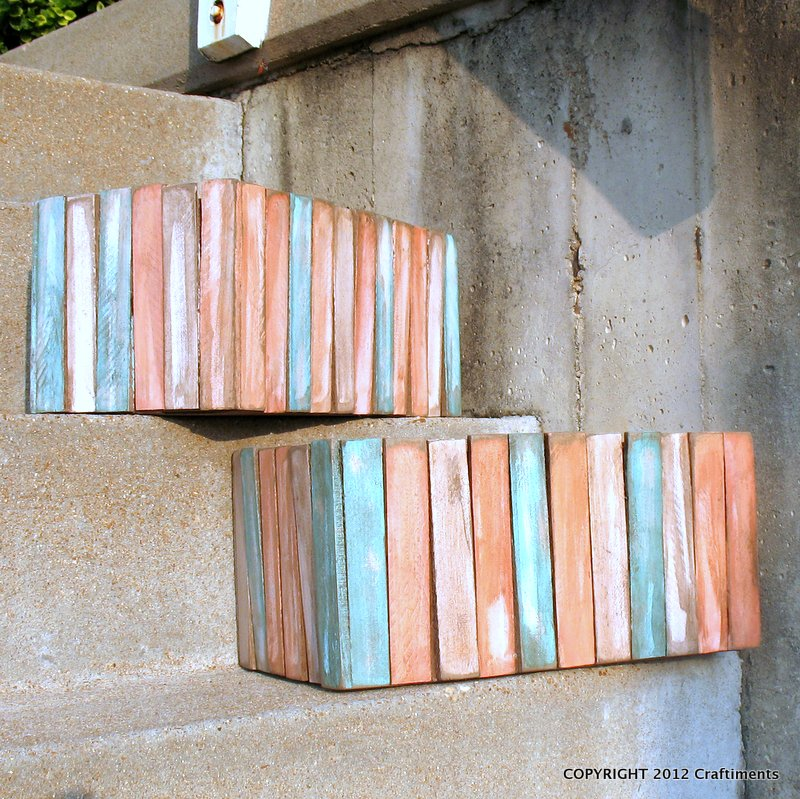 Craftiments how to make a wood shim crate when you for Craft crates