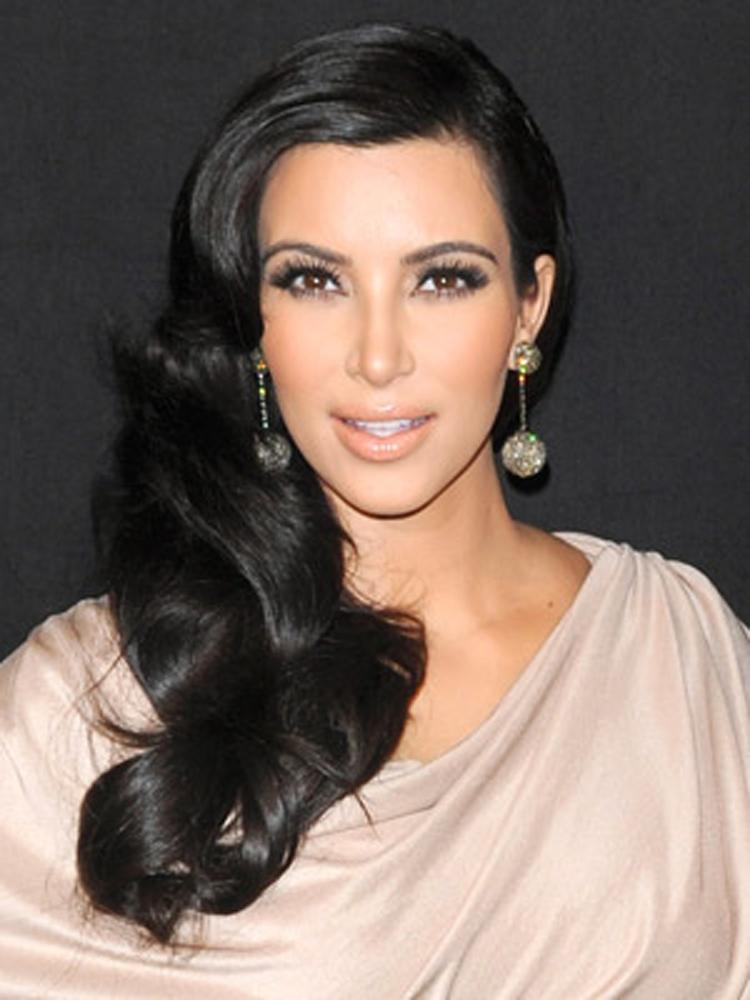 Kim Kardashian Fresh Brunette Hairstyles