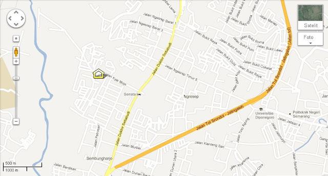 Peta lokasi Formulasi LPMP Jawa Tengah
