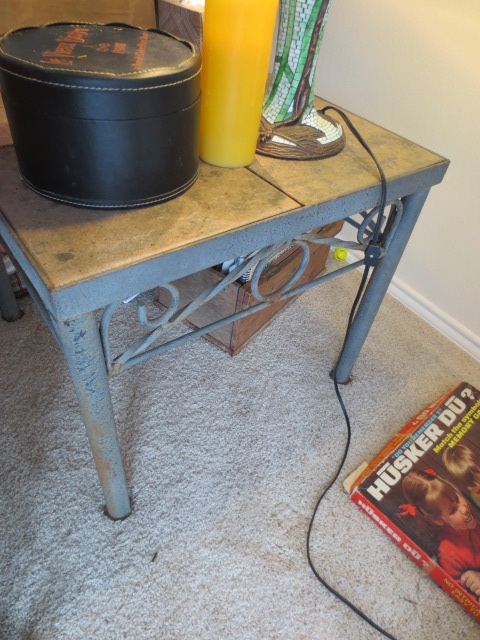 Metal And Tile Table Set With Removable Tiles   Coffee Table, End Table And  Sofa Table $200