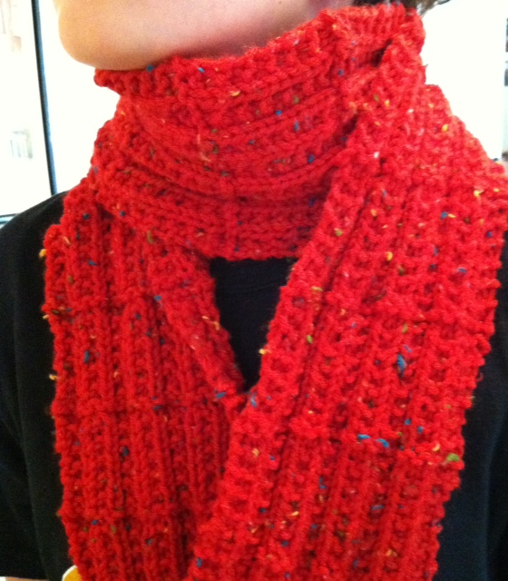 Knitting Scarves Patterns For Charity : KnitOasis: Red Scarf Project 2013 (plus a free knitting pattern!)