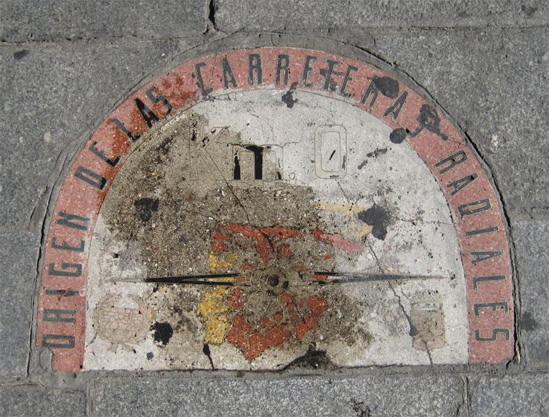 Madreselva los indignados y el kil metro cero for Placa km 0 puerta sol