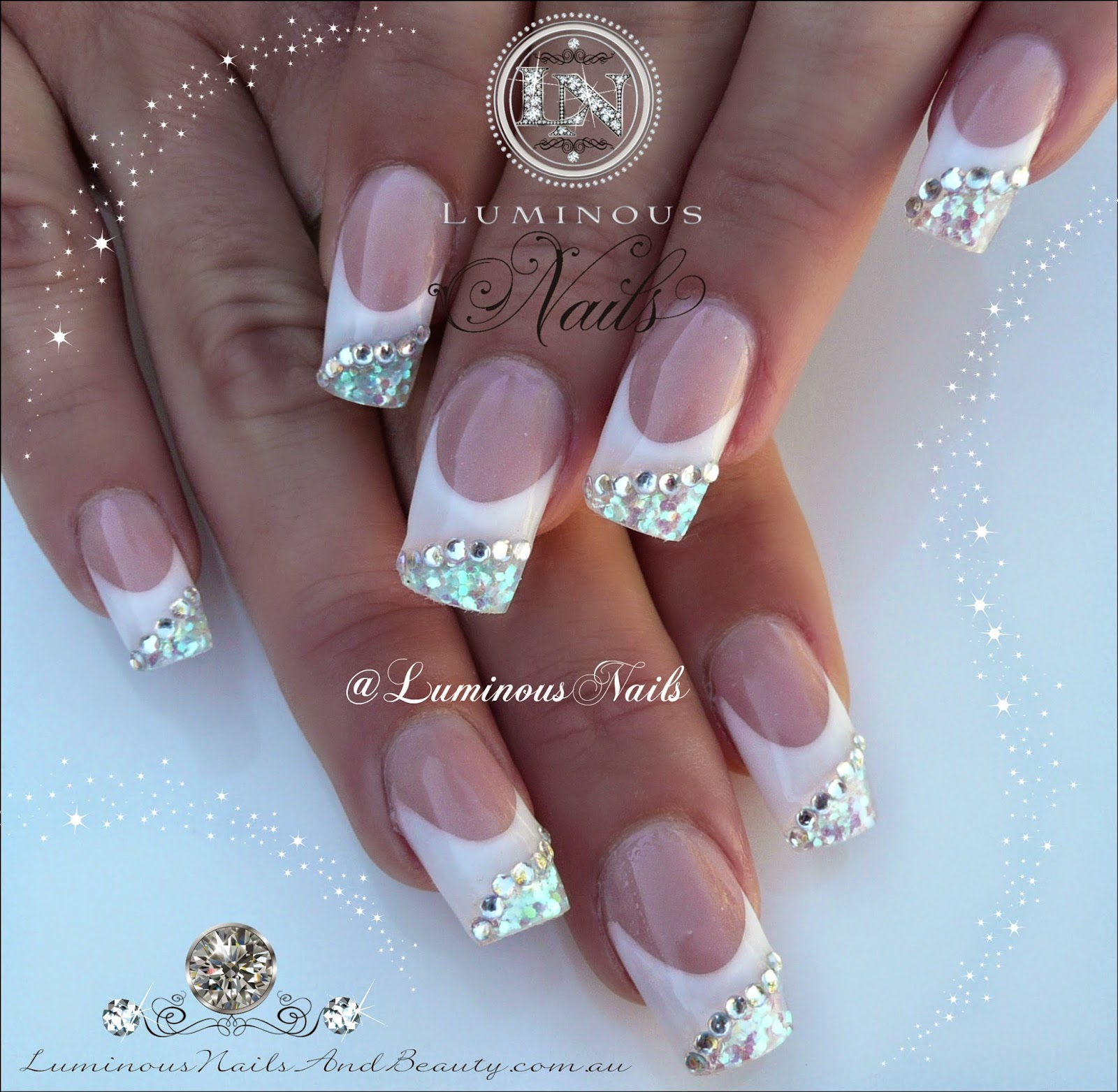 Nail Design White And Silver: Latest french tip nail art design ideas.