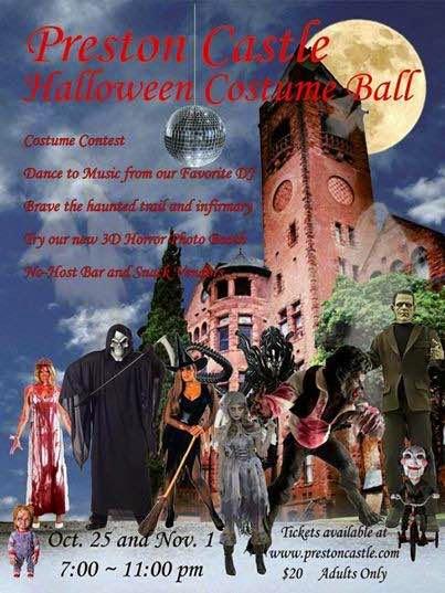 Preston Castle Halloween Costume Ball - Oct 25 & Nov 1