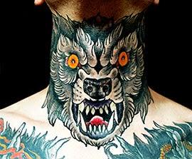 Fotos de tatuagens de lobos diferentes